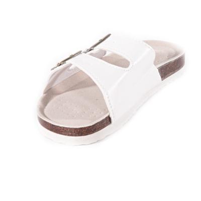 Biele páskové korkové papuče Simba - 2