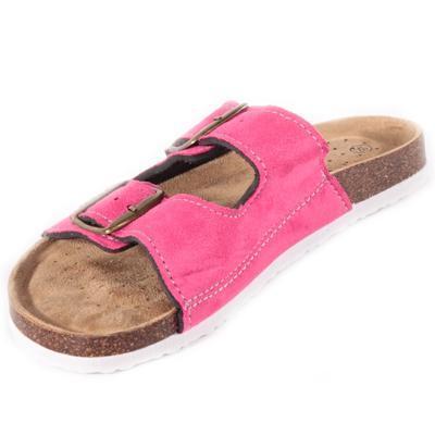 Páskové korkové papuče Alice tmavo ružovej - 2