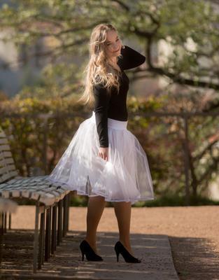 Bílá tutu sukně Adriana - 2