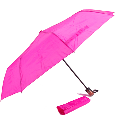 Jednofarebný skladací dáždnik Lejla ružový - 2