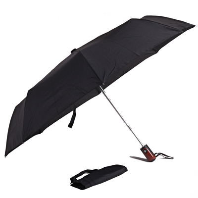 Pánsky skladací čierny dáždnik Mateo - 2