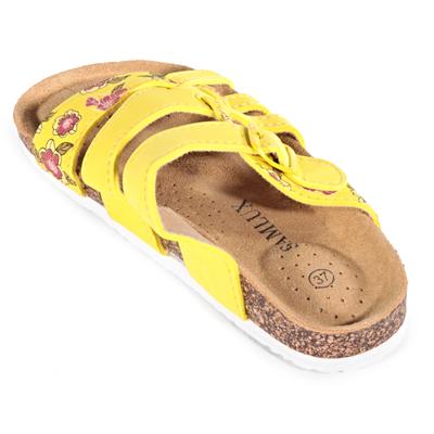 Dámske kvetované šľapky Bruno žlté - 2