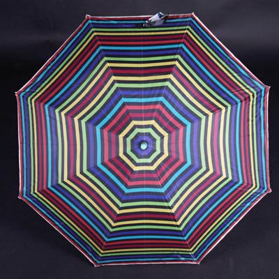 Pruhovaný dáždnik Dora zelený - 2