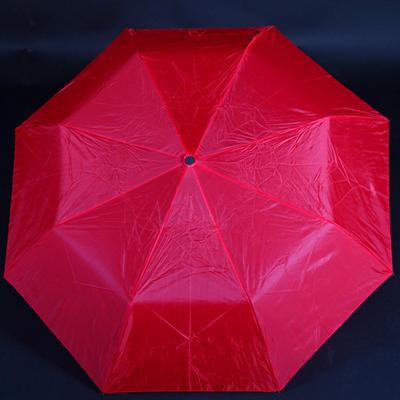 Jednofarebný skladací dáždnik Lejla červený - 2