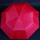 Jednofarebný skladací dáždnik Lejla červený - 2/2