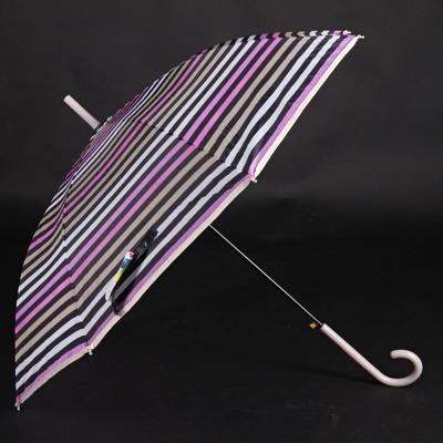 Pruhovaný dáždnik Dora hnedý - 2