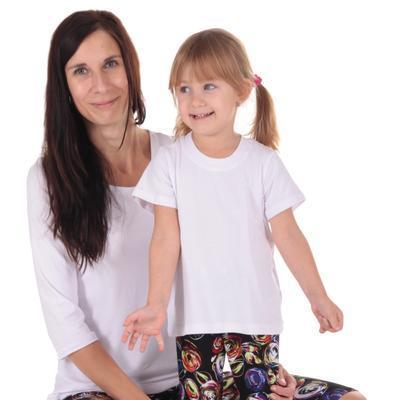Detské tričko krátky rukáv Laura biele od 122-146 - 2