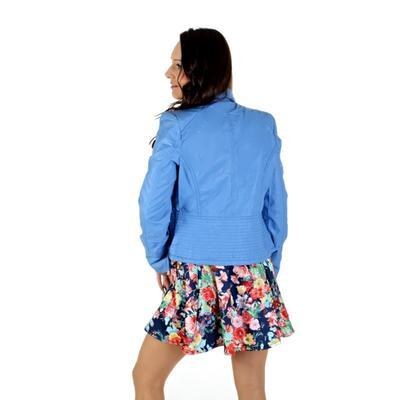 Koženková bunda Lionela modrá - 2