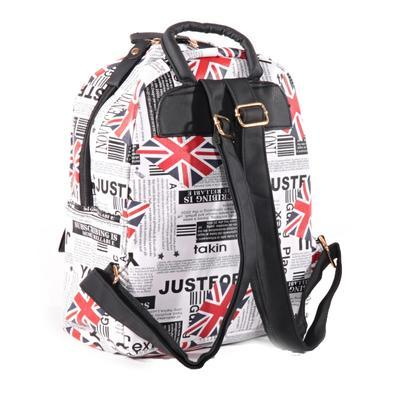 Štýlový batoh s potlačou Just čierny - 2