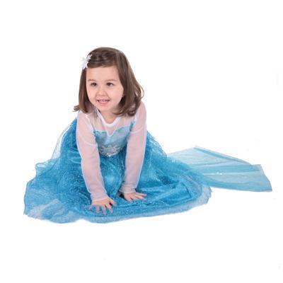 Karnevalový kostým princezna Elsa modré - 2