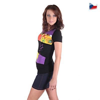 Elegantné tričko Naill fialovej - 3