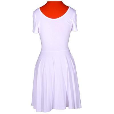 Bílé jednobarevné šaty Scarlet - 3