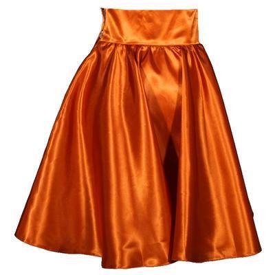 Měděná saténová sukně s pevným pasem Kimberly - 3