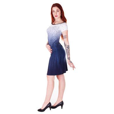 Modré šaty Melody s potiskem - 3