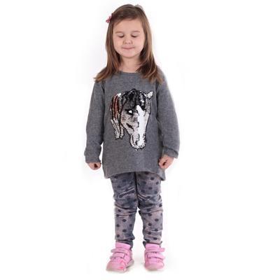 Dívčí svetr s měnícím obrázkem Pedro sv. šedý - 3