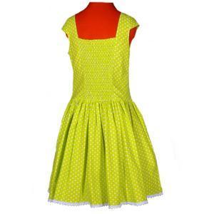 Zelené šaty Elisha s puntíky - 3/4