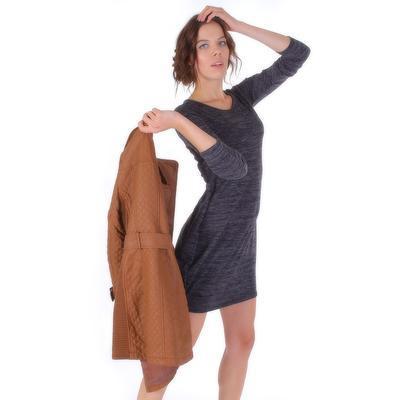 Luxusné prešívaný hnedý kabát Celest - 3