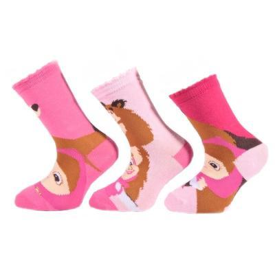 Dívčí ponožky s Mášou a medvědem P8a R  - 3