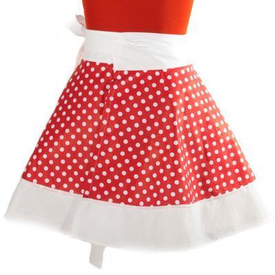 Červená zavinovací sukně Lili s puntíky - 3