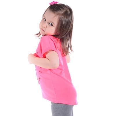 Neónovo ružové tričko Love - 3