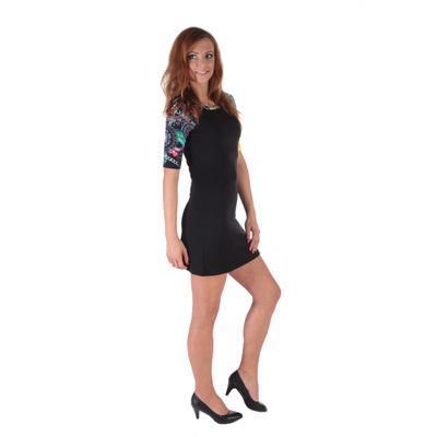 Krátke čierne šaty Aimee - 3