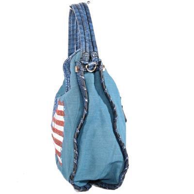 Stylová modrá kabelka Tomas 3D - 3
