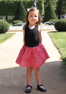 Dívčí červená sukně Isabel se srdíčky - 3