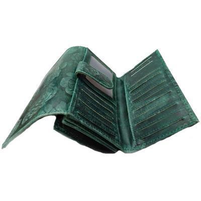 Dámská luxusní kožená peněženka Thea zelená - 3