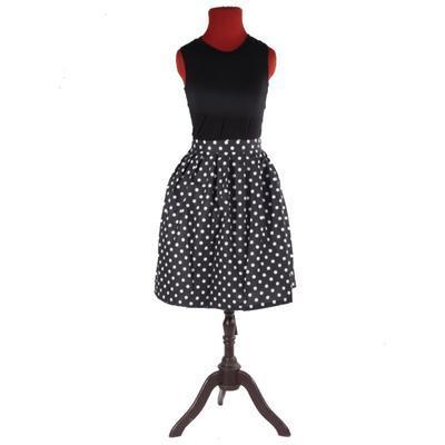 Černá zavinovací sukně Magda s puntíky - 3