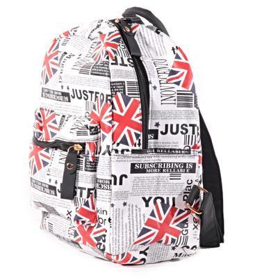 Štýlový batoh s potlačou Just čierny - 3