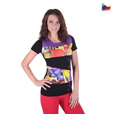 Elegantné tričko Naill fialovej - 4