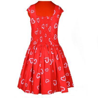 Červené šaty Florenc se srdíčky - 4