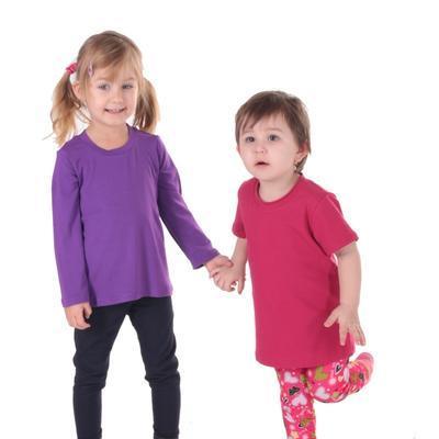 Dětské tričko dlouhý rukáv Marlen fialové od 122-152 - 4