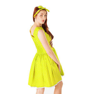 Zelené šaty Elisha s puntíky - 4/4