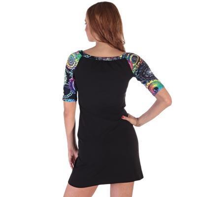 Krátke čierne šaty Aimee - 4