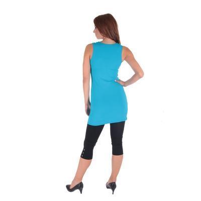 Tmavo modré letné šaty Pandora - 4