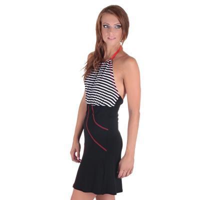 Letní šaty Seal se zavazováním za krk - 4