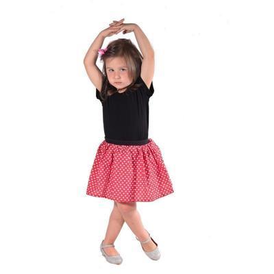 Dívčí červená sukně Isabel se srdíčky - 4