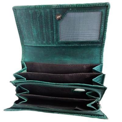 Dámská luxusní kožená peněženka Thea zelená - 4