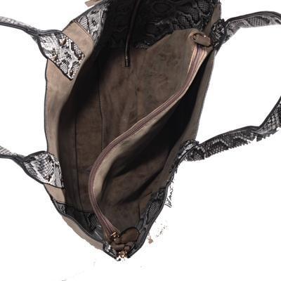 Oboustranná hnědá kabelka Dominik 3B - 4