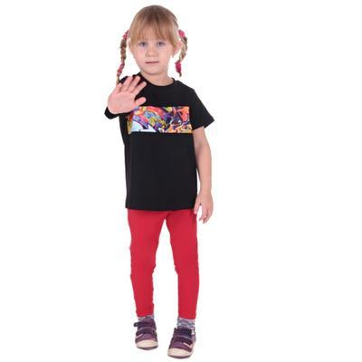 Červené detské legíny Cruso od 98-116, 116 - 4