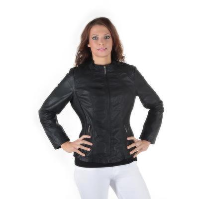 Dámska čierna bunda Ervin - 4