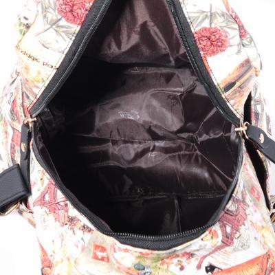 Štýlový batoh s potlačou Paris ozanžový - 4