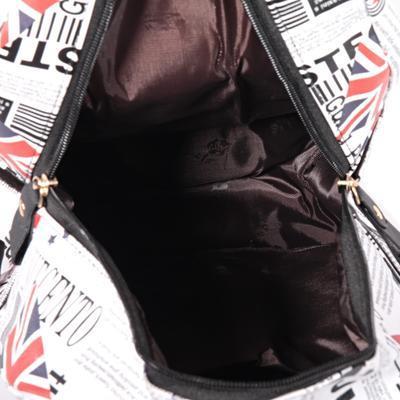 Štýlový batoh s potlačou Just čierny - 4