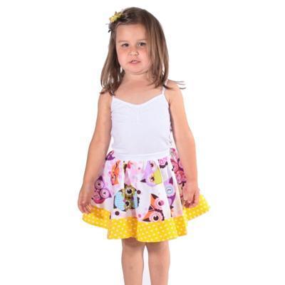 Dívčí kolová sukně Sova - 4