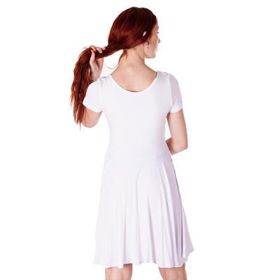 Bílé jednobarevné šaty Scarlet - 5