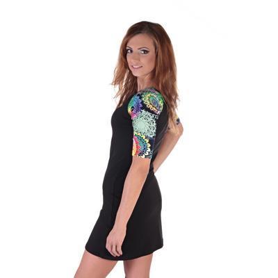 Krátke čierne šaty Aimee - 5