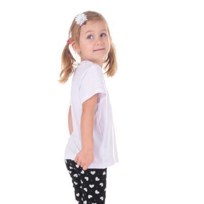Detské tričko krátky rukáv Laura biele od 122-146 - 5