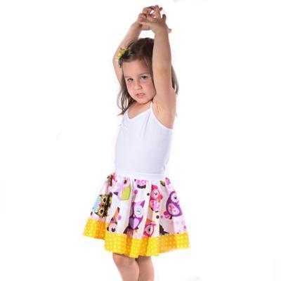 Dívčí kolová sukně Sova - 5