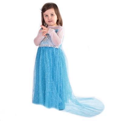 Karnevalový kostým princezna Elsa modré - 5